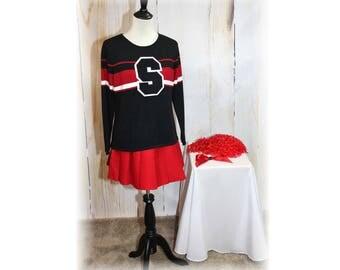 Retro Cheerleader / Vintage Cheerleader / Cheerleader Sweater / Cheerleader Costume-Medium (K69)