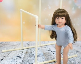 Gymnastics Uneven Bars for American Girl Doll or 18 inch doll