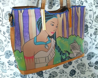 Last one. Rare tote. Pocahontas tote gold bag. Pocahontas , disney tote bag