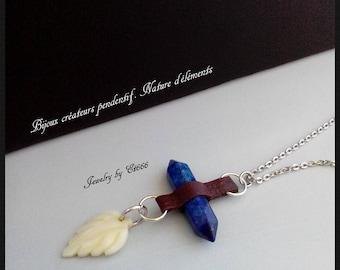Jewelry creators pendant. Nature of elements