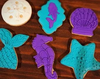Mermaid Under The Sea Decorated Sugar Cookies