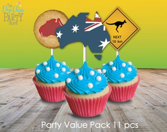 Australia Day/Aussie Party Printables Value Pack, Instant Download