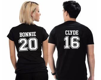 Bonnie & Clyde,  Couples T-Shirts SET, Couples shirts, Gift For him, Gift For her, Gift for Couples