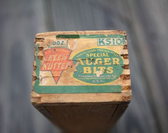 Keen Kutter Auger Bit Dove Tail box with sliding lid