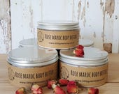 Body Butter Rose Maroc or Honey & Almond, Whipped Shea Butter, Body Moisturiser