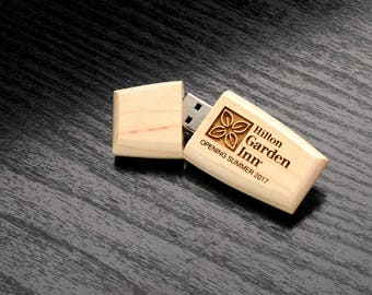 Set of 10 16GB Maplewood 2.0 USB Flash Drive - Wildwood Body with Magnetic Cap - Personalized Wooden USB  - Laser Engrave your own design!