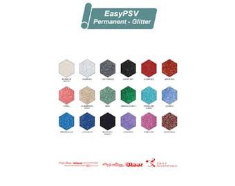"Siser EasyPSV Glitter Permanent Adhesive Sign Vinyl - 12"" x 5 Feet or 10 Feet FREE Shipping"
