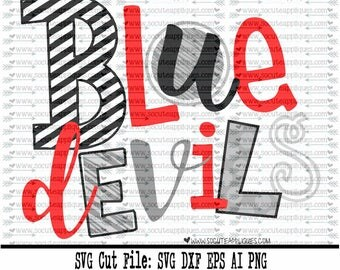 Blue Devils SVG, Cut file, Cheer svg, School spirit, socuteappliques, SvG Sayings, football svg, football sister svg, football mom svg
