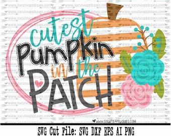 Pumpkin SVG, Cutest pumpkin in the patch svg Thanksgiving svg, socuteappliques, turkey svg, New baby svg, fall svg, pumpkin spice svg