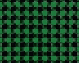Buffalo Plaid Green Black Patterned HTV Heat Transfer Vinyl Green And Black Plaid, Buffalo Check Tshirt Material