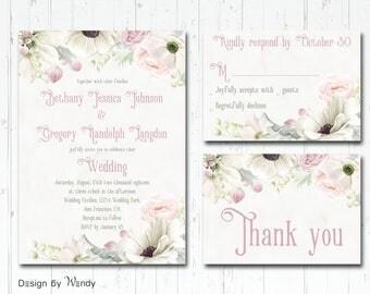 vintage wedding invitation blush and ivory wedding invite set vivtorian ivory and blush wedding invitations - Ivory Wedding Invitations