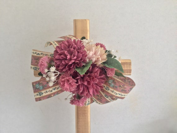 Cemetery cross, cemetery flowers, grave decoration, memorial cross, grave marker, floralmemorials