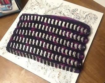 """Purple Clutch Purse Soda Tab 9"""" x 4"""""""