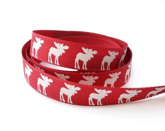 Christmas Ribbon 15 mm red Elk