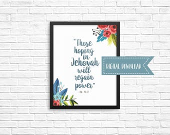 2018 Year Text 8x10 Digital Download - Best Life Ever, JW Gift, Pioneer Gifts, Scripture Art, Wall Decor, Jehovah's Witnesses, JW org
