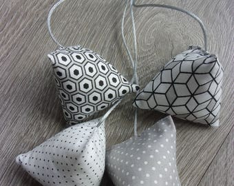 "Humbugs-deco ""Cube"" collection. Pastel, grey, black and white tones. For home decor gift idea."