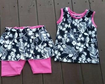 Girl's Two Piece Swimwear - Size 6 Swimsuit -  Pre made Swimsuit - Modest Swimwear for Girl's - Girl's Swimwear -  Modest Beach Wear - Short
