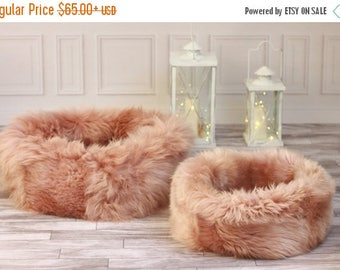 ON SALE Sheepskin Cat bed | Cat cave | pet bed | Dog Bed | Pink Cat bed | pet furniture | Pink dog bed | Genuine Real Sheepskin |