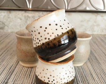 Ready to ship mix and match shot glasses. Espresso cup. Sake cups