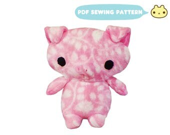 Toy Pattern, Plush Pattern, Pig Sewing Pattern, Pig Pattern, Pig Sewing, Pig Plush Pattern, Pig Softie Pattern, Farm Animal Pattern, Pig PDF