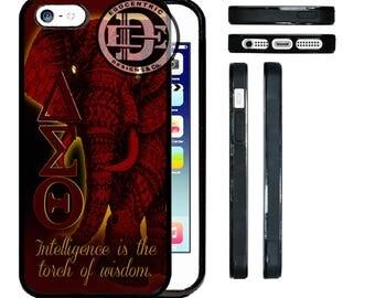 Egocentric Design & Co. Delta Sigma Theta Sorority TPU Rubber Silicone Phone Case