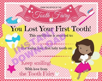Certificate from the Dark Skin Tooth Fairy