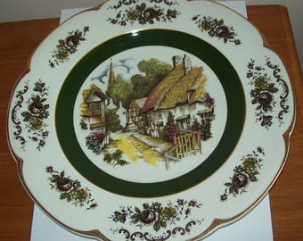 Decorative wall display Ascot Service Plate by Wood & Sons English rural cottage scene Collectible