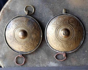 Pair of the Old Hazara Tribal Pendants - Upper Arm Amulets