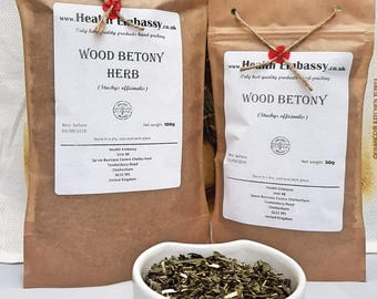 Wood Betony (Stachys officinalis) - Health Embassy - Organic