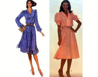 """Pullover Dress Sewing Pattern Junior Petite Size 5-7-9 Bust 31, 32, 33"""" Uncut McCall's 7463"""
