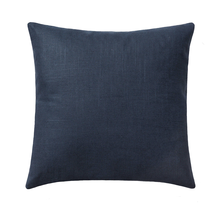 Navy Blue Linen Pillow Linen Decorative Pillow Covers Navy
