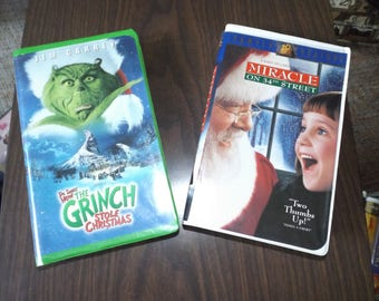 Black Diamond, Vintage VHS, Vintage Movies, VHS Movies, Classic, Family Gift, Childrens Movie, Disney, The Grinch, Miracle on 34th Street