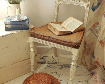 Antique painted deconstructed chair. Bedroom, hall, dining