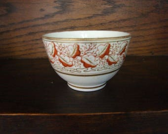 Rare Mark Early Minton Pattern 472 Tea Bowl - Circa 1809