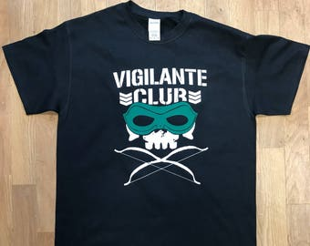 vigilante Club arrow stephen amell tshirt bullet