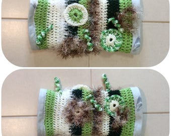 Green Crochet Fidget Sensory Twiddle Muff Dementia Alzheimers Autism