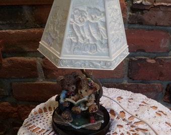 Teddy Bear Lamp with Reflecting Lamp Shade, Teddy Bear Lamp nursery children's room w/ shade, Teddy Bears Lamp, Nursery Lamp, Morethebuckles