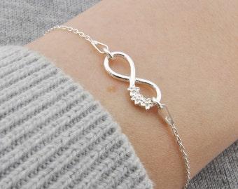 Sterling Silver Infinity bracelet, Infinity bracelet, Infinity Charm, Infinity Pendant, Little Infinity, Infinity Silver, Small Infinity ,