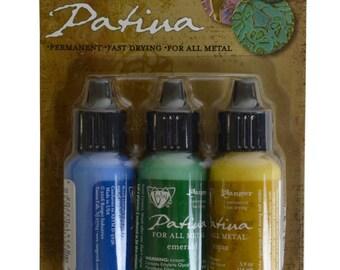 Vintaj® Ranger Patina™ Inks Faded Pick-Up Lapid Emerald & Topaz Jewelry Making Kit - V-36906