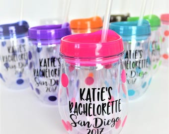 Bachelorette Party Tumbler// Bachelorette Party Cups // Bachelorette Party Gift for Bride // Bachelorette Wine Glass // Bachelorette Favors