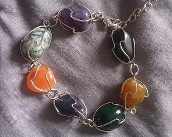 Mixed Crystal Bracelets