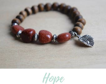 Goldstone Bracelet / protective gemstones, protection bracelet, protection amulet, positive vibes, clear negativity, amulet bracelet