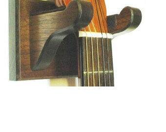 Walnut Wooden Guitar - Banjo - Ukulele Wall Mount Stringed Instrument Display - Choice