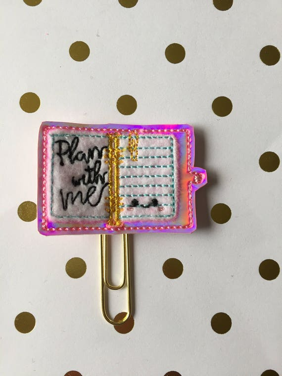 Plan With Me  planner Clip/Planner Clip/Bookmark. Planner Clip. Notebook planner clip. Paper planner clip. Holographic Planner Clip