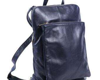 Backpack Women, Backpack Leather, leather Backpack Bag, Convertible Bag, Laptop Backpack, Convertible Purse, Blue Backpack, Large Backpack