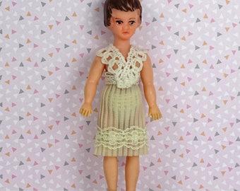 Doll house vintage ARI mommy doll 1970s white dress