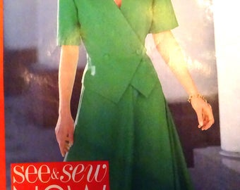 Butterick 4791 Double breasted top and flared skirt pattern Size 6, 8, 10