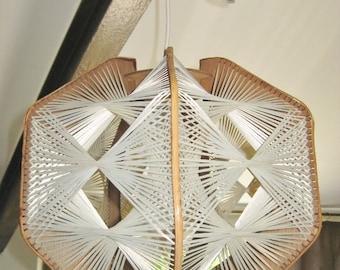 7 Sided Vintage String Lamp, Decorative Geometric Hanging Lamp shade