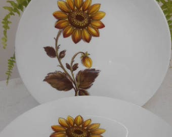 Retro Vintage Johnson of Australia Dinner Set  - Retro 70's Gold Sunflower