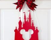 Disney Door Hanger  , Mickey Castle , Disney Castle Decor , Monogram Castle , Castle Decoration , Disney Nursery Decor , Wreath Obsessed